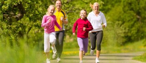 family runing